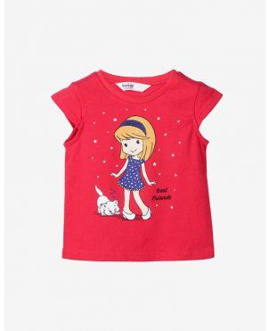 Jash Kids Half Sleeves Shirt Allover Triangle Print - Peach