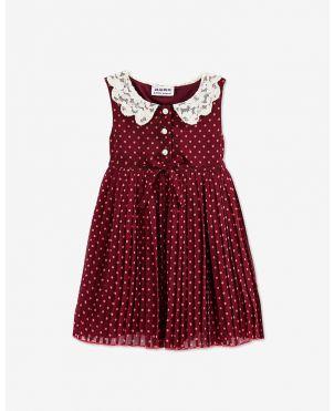 Mark & Mia Tiny Flower Applique Sleeveless Dress - Pink
